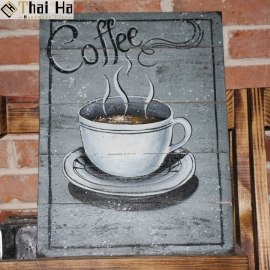 Tranh Gỗ Decor Quán Coffee 008