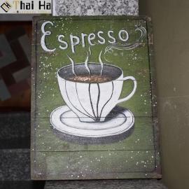 Tranh Gỗ Decor Quán Coffee 011