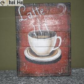 Tranh Gỗ Decor Quán Coffee 013