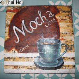 Tranh Gỗ Decor Quán Coffee 004