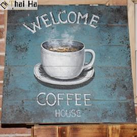 Tranh Gỗ Decor Quán Coffee 006
