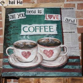 Tranh Gỗ Decor Quán Coffee 007